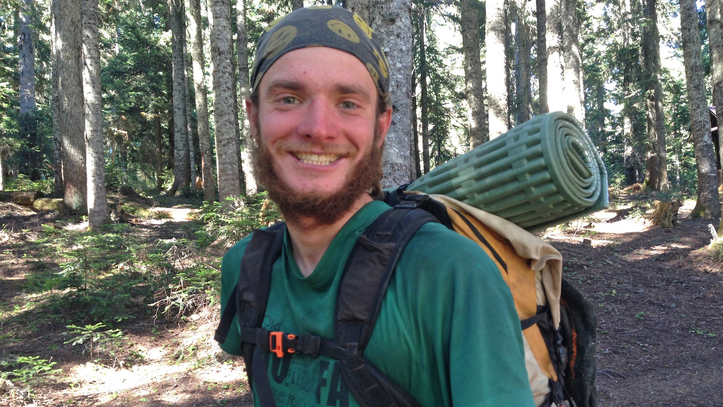 """Eric Anderson, 25  Trail Name: Dart Wisconsin """"It doesn't matter where I am, I can be myself and do my thing the same in the woods, or in society, anywhere. Previously, my self-image was contextual, defined by studies or work. But now I realize it doesn't matter where I am or what I'm doing, I am a relative constant in and of myself. The PCT is a momentum break; in the real world, you're caught up with the next event, the next get together with friends, the next work. Getting away from all of that and just existing for a little while helps clarify things. It lets you know what you really want to do."""""""