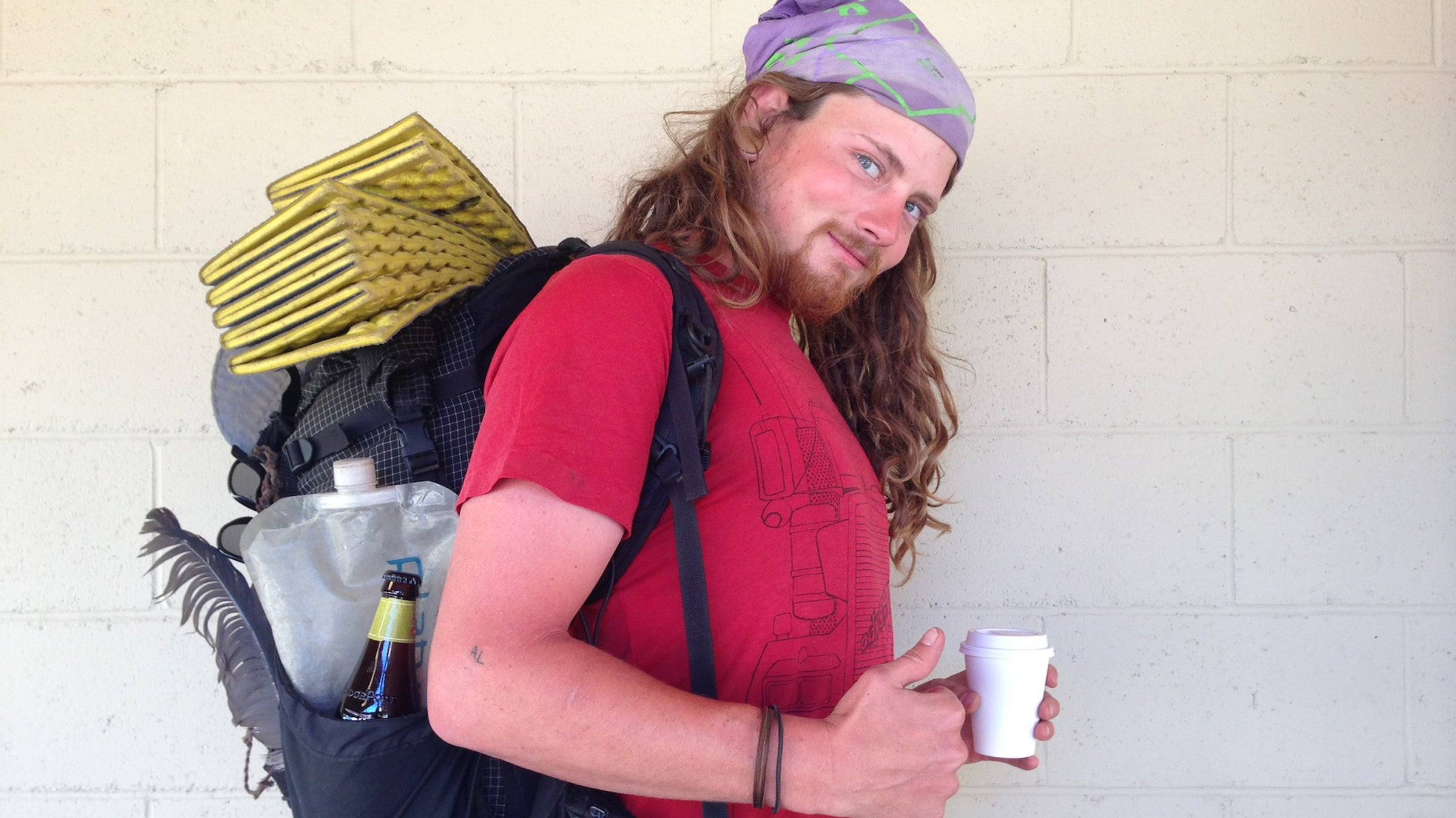 """Ethan Bisset, 25 Trail Name: Homeboy Salt Lake City, Utah """"I've changed on this trail. I've learned that we should put all our trust in who we know and not what we got. I'll go home with the trail in my heart. I'll go home with dirt in my lungs and my hair and under my fingernails. Be friends. Don't burn bridges and try not to pee in someone's backyard!"""""""