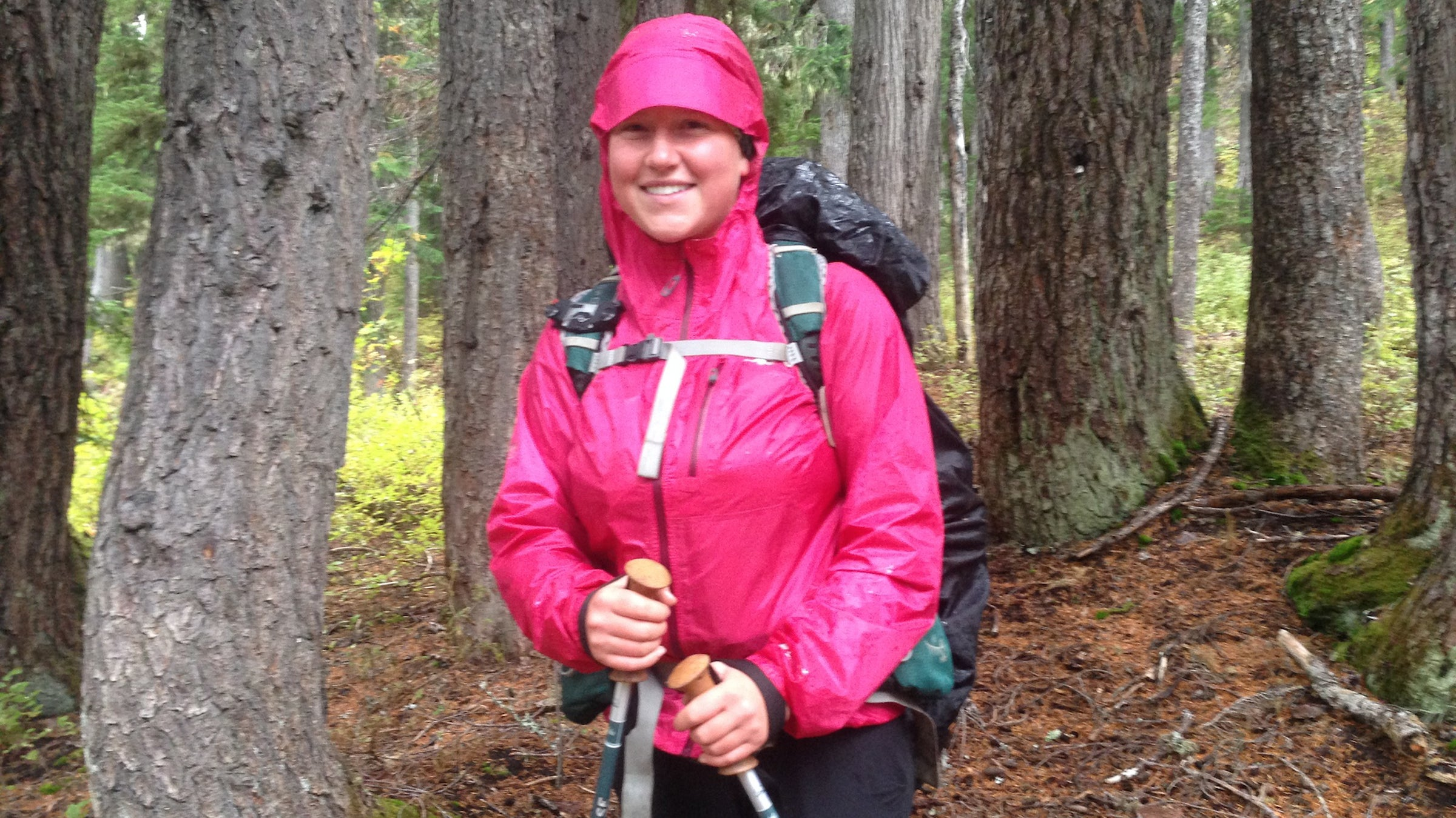 """Katie Copeland, 20 Trail Name: Tape Boss Calgary, Alberta """"Getting outside of your comfort zone is where you grow. I'd not have grown had I not hiked. I'm way more confident now. I learned it's important to have people around you. I'll be returning to school. I've become smarter in many ways, but academically less so! I have a feeling I'll return home and not be able to explain the wholeness of the PCT. It's amazing and horrible and so many things. All the bad moments—rain, loneliness, homesickness—they're part of it but make the accomplishment all the more worthwhile."""""""