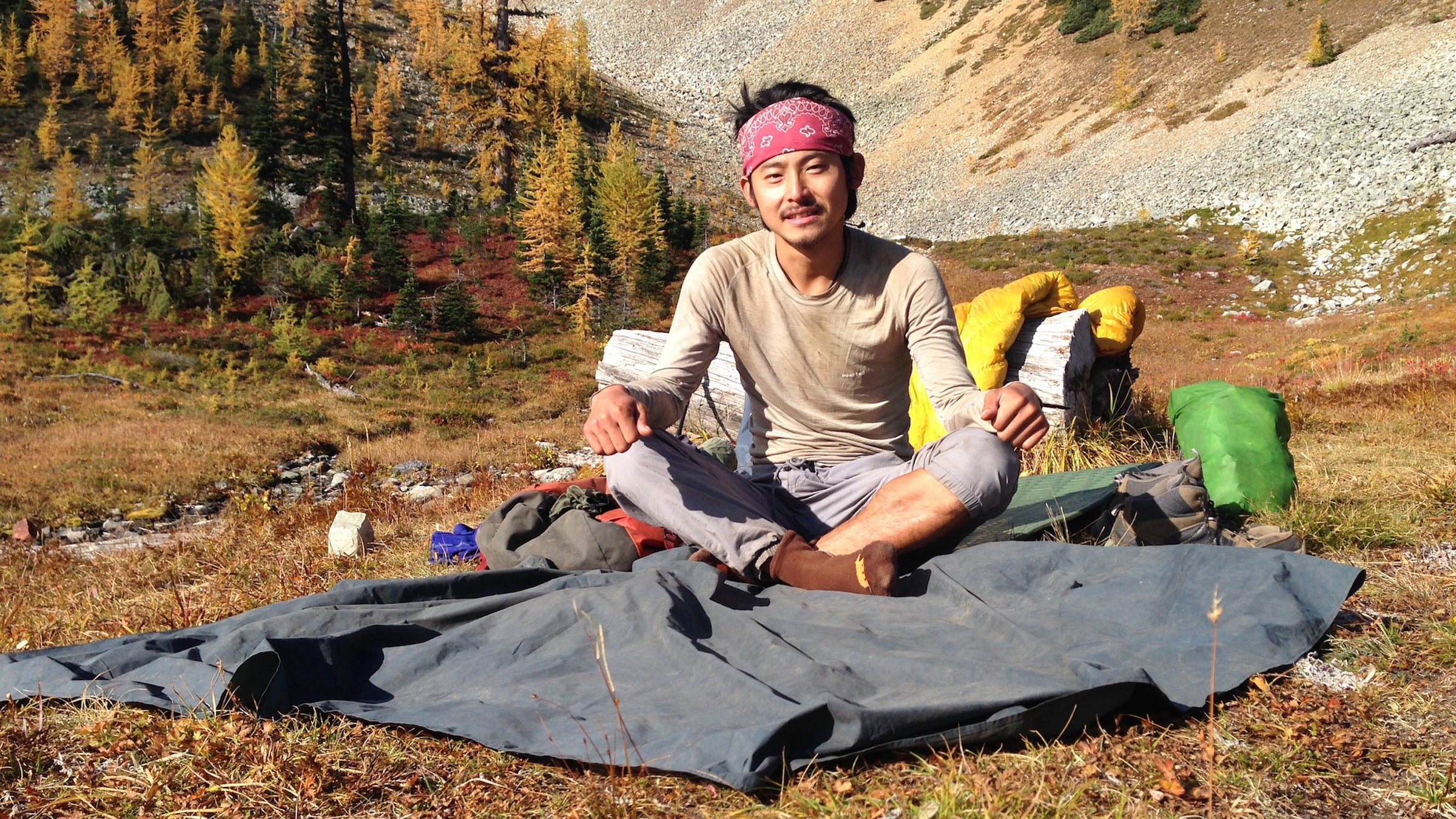 """Kobayashi Shunsuke, 27 Trail Name: Koba Tokyo, Japan """"I quit my job to come here and my mind is so spread because of the nature. I know American culture, having spoken to so many people. My mind is spread."""""""