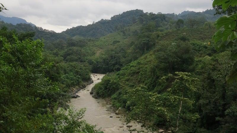 Proposed site of the Agua Zarca dam.