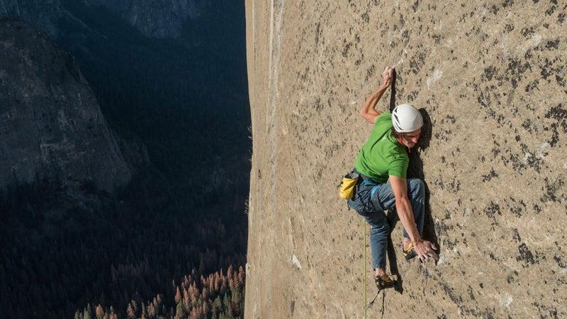 Adam Ondra on the Dawn Wall, Pitch 20.