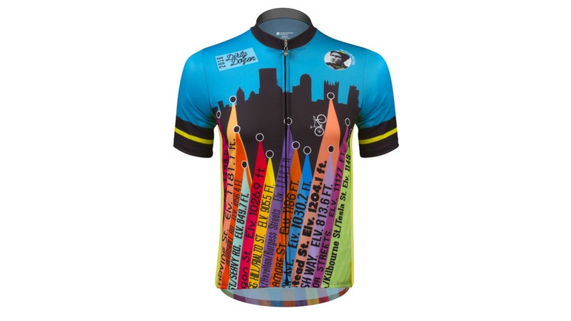 This bike jersey is for sale and costs $79.95.