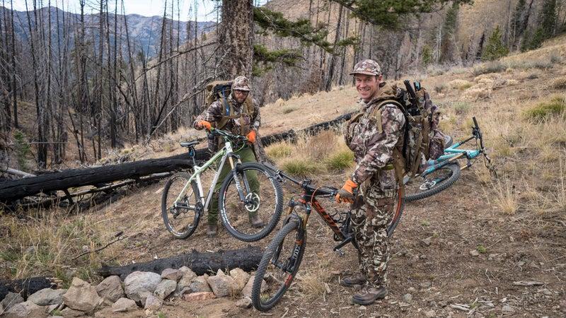 Bike to hunt.