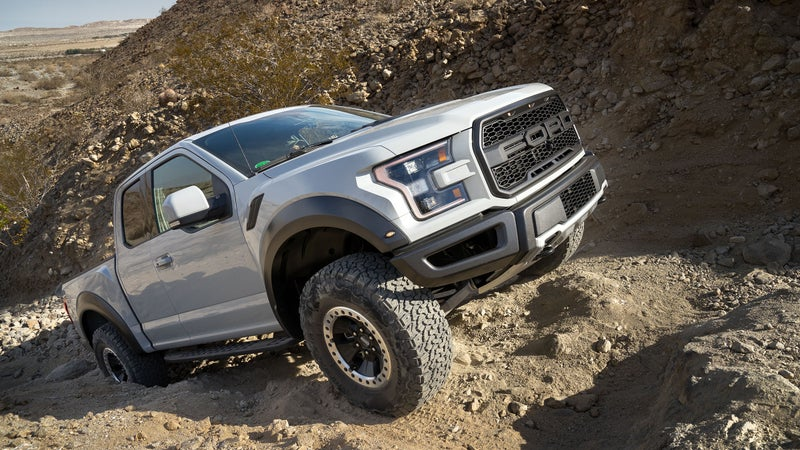 Climbing? The 50:1 low-range, and locking rear diff combine with the 510 Lb.-Ft. of torque to get you up virtually anything. Ford's sophisticated traction control system helps here too, making the most of the grip offered by the K02s.