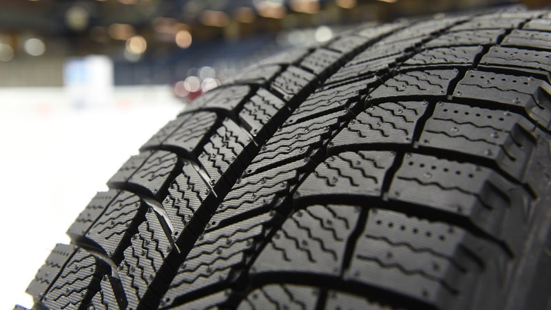 It's easy to appreciate the advantages a winter tire's tread will have in wet, slushy, or snowy conditions. Not only is it deeper, but there's more of it. And, all those tiny, squiggly sipes are able to mechanically key with any small surface imperfection they encounter on any surface.