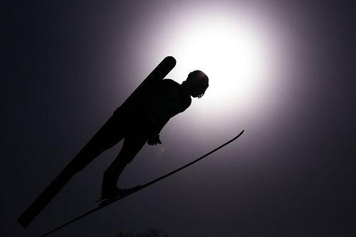 FEBRUARY 29, 2009 - Ski Jumping : Price ski competision at Okurayama Jump Stadium on February 29, 2009 in Sapporo, Hokkaido, Japan. (Photo by Tsutomu Takasu)