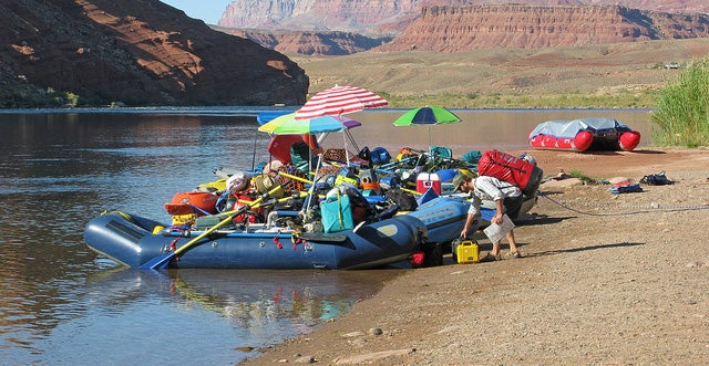 """Lees Ferry is the only place within Glen Canyon where visitors can drive to the Colorado River in over 700 miles of Canyon Country, right up to the first """"rapid"""" in the Grand Canyon. Here at the very start of the Grand Canyon, adventurous river runners launch their boats for trips down the canyon.  The launch ramp is a flurry of activity each day with rigging for both commercial and noncommercial river trips. In the morning, boaters meet with the Lees Ferry ranger for their pre-trip check in to get an early start to their first day on the river. NPS Photo by Michael Quinn.Upstream to the Glen Canyon Dam, Fishermen enjoy world-class trout fishing. Backpackers finish their 4 or 5 day hike through the Paria Canyon Wilderness Area here. Day-hikers can explore the canyons and desert ridges.  Lees Ferry is the driest location in the canyon, averaging only 6.1"""" of yearly precipitation. Lees Ferry Campground: 54 designated sites. No hookups. Grills provided, no open fires. Quiet time 10pm-6am. Modern bathroom/comfort station, potable water available, launch ramp 2 miles. Gas and supply store at Marble Canyon, about 5 miles away. No reservations. $12 per site/per night.Lees Ferry is 42 miles (61 km) from Page via Hwy 89 south and Hwy 89A west. It is 85 miles (125 km) from the North Rim of the Grand Canyon via Hwy 89A and Hwy 67. The Lees Ferry Junction and Park Entrance is just west of Navajo Bridge Interpretive Center. A paved road leads 5 miles (8 km) to the Ferry area. A National Park Service campground, ranger station, and public launch ramp are the only services available at Lees Ferry. There is a gas station, store, post office, motel and restaurant at Marble Canyon, next to the park entrance. More services are found west on Hwy 89A.Learn more: http://www.nps.gov/glca/planyourvisit/lees-ferry.htm"""