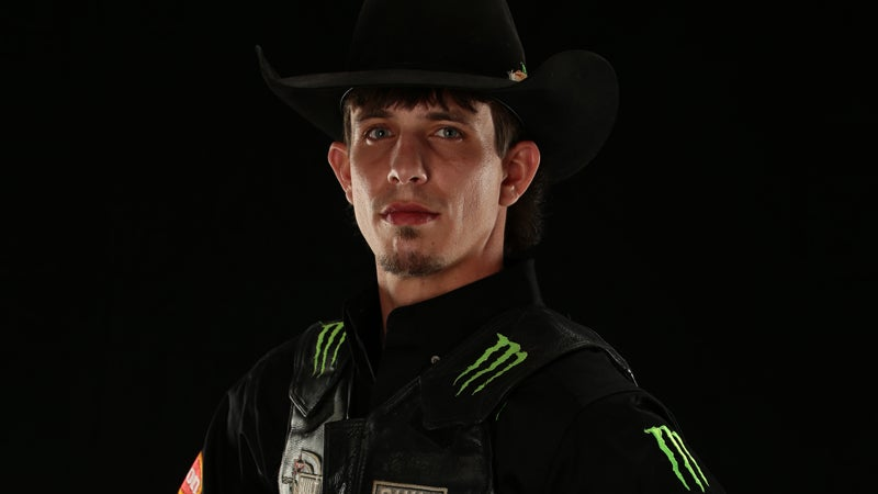 JB Mauney. Oklahoma City Built Ford Tough series PBR. Photo by Andy Watson