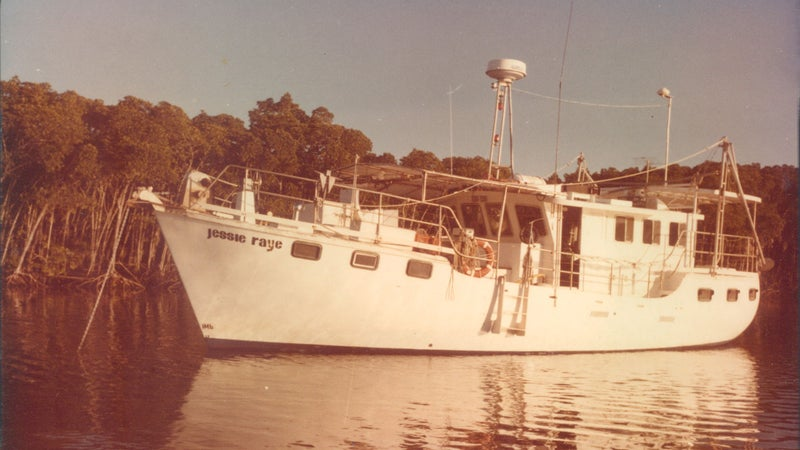 Lee and Janet lived aboard the MV Jessie Raye in their early days in Australia.