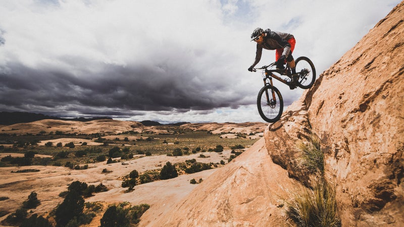 The sandstone on Slickrock is like Velcro for bike tires.