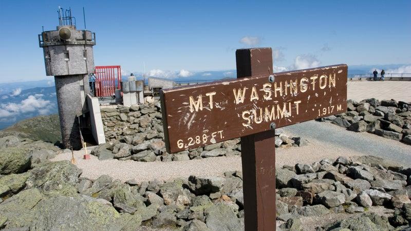 The summit of Mount Washington—one of the coldest, windiest, most miserable places on the planet.