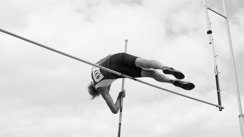 Don Isett, 76, of Anna, Texas, wins the M75 division pole vault with a vault of 3.01/9 feet 10.25 inches at the National Senior Games in St. Paul, Minnesota, on July 8, 2015.