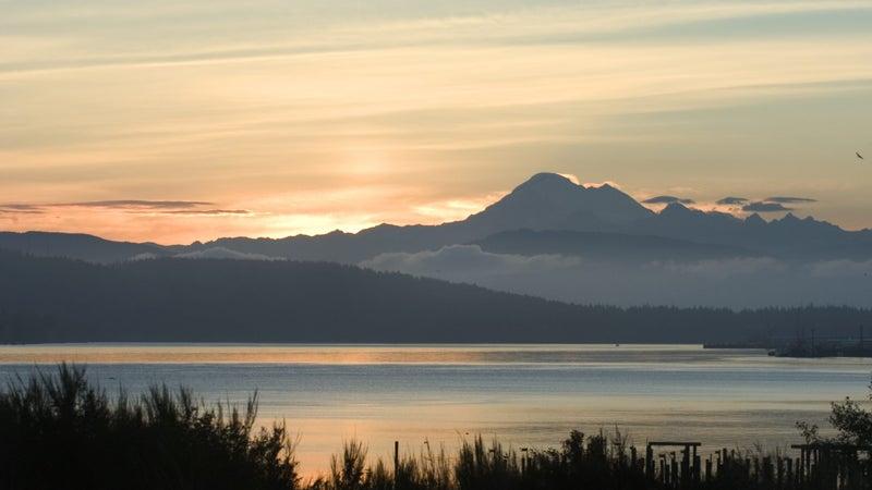 Sunrise over Anacortes, Washington.