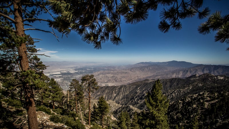View of Palm Springs from the San Jacinto Mountains.
