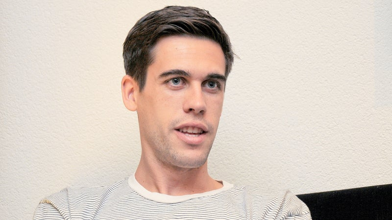 Ryan Holiday gives an interview.
