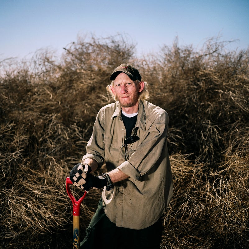 This is Josh Reiswig, a firefighter and assistant engine captain, who was doing tumbleweed mitigation in Vogel Canyon in La Junta, Colorado.
