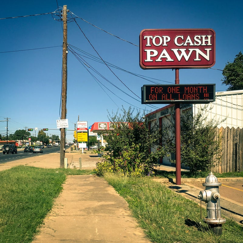 Pawn stores—great for TV shows and bait bikes.