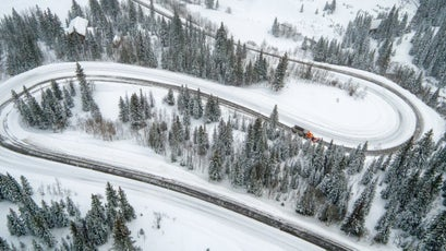 Red Mountain Pass has 16 treacherous switchbacks, most without safety rails.