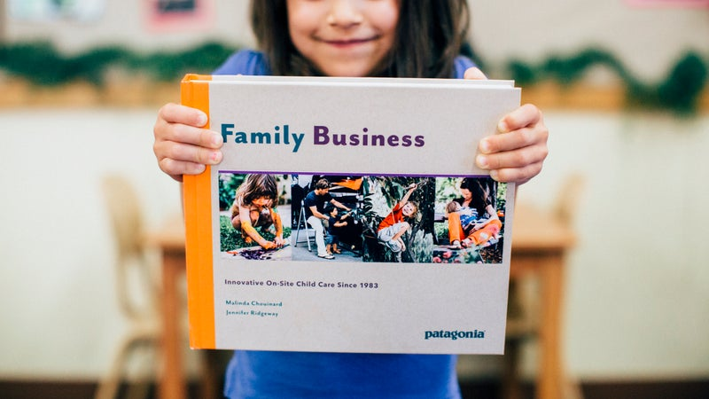 """Malinda Chouinard's book, """"Family Business,"""" delves into how and why Patagonia provides childcare."""