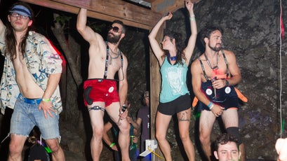 When all the climbing is finished, the partying begins in earnest.