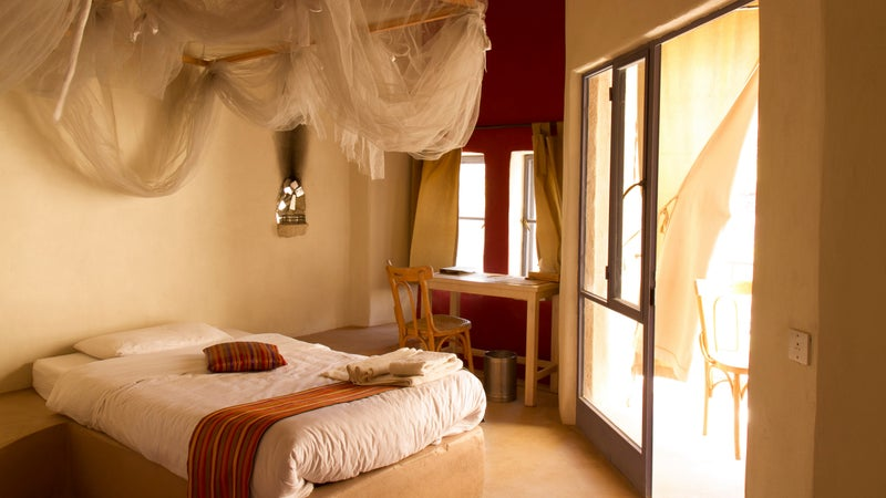 A deluxe room at the Feynan Ecolodge, Jordan.