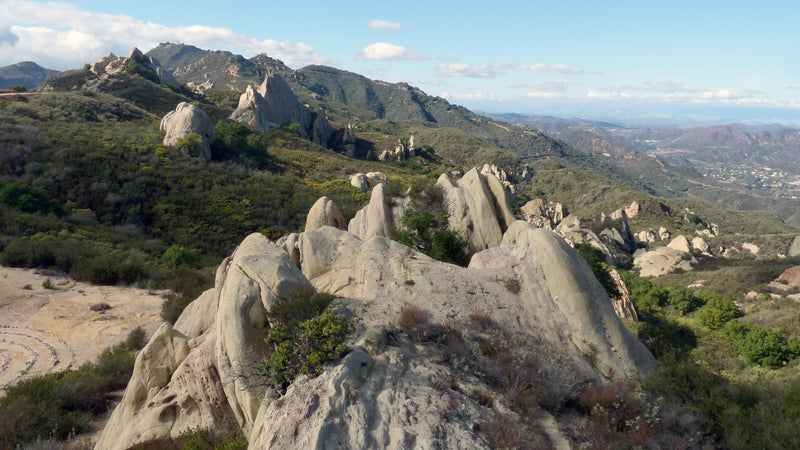 Sandstone rock formations just east of Corral Canyon Road in Malibu Creek State Park.