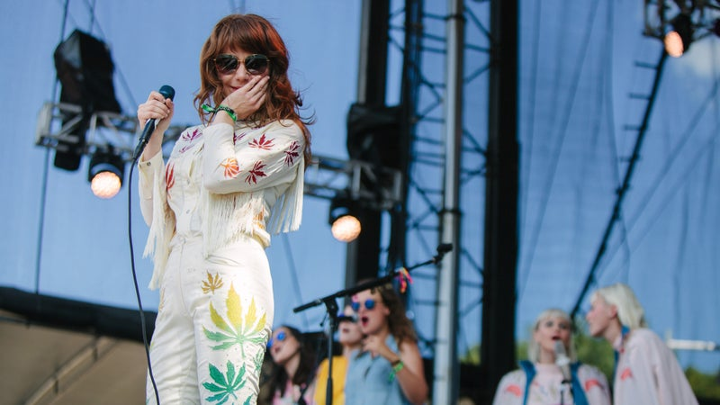 Jenny Lewis with Lucius and the Staves at the Eaux Claires music festival