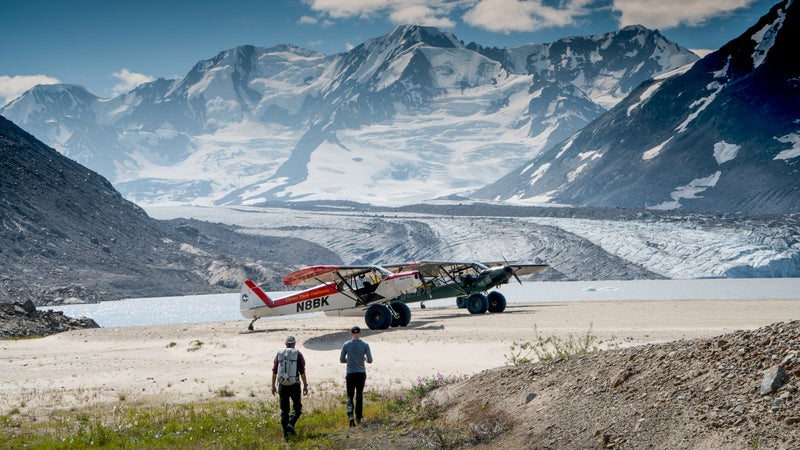 Access to hiking is by plane at the Thule Lodge Alaska