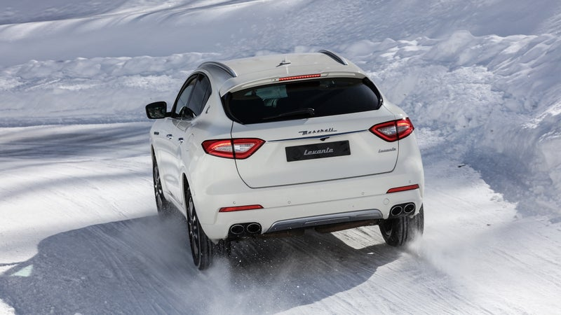 Things are much happier at the rear, where the Levante is at least anonymous.