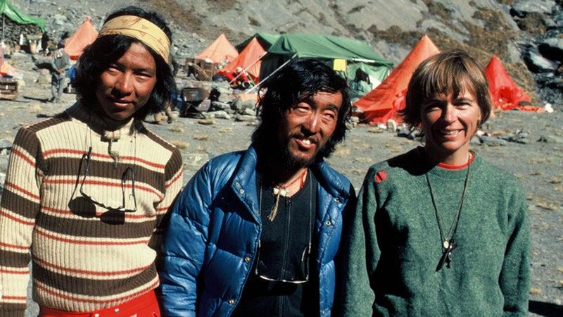 (from left) Mingma Tshering Sherpa, Chewang Rinjing Sherpa, and Irene Miller