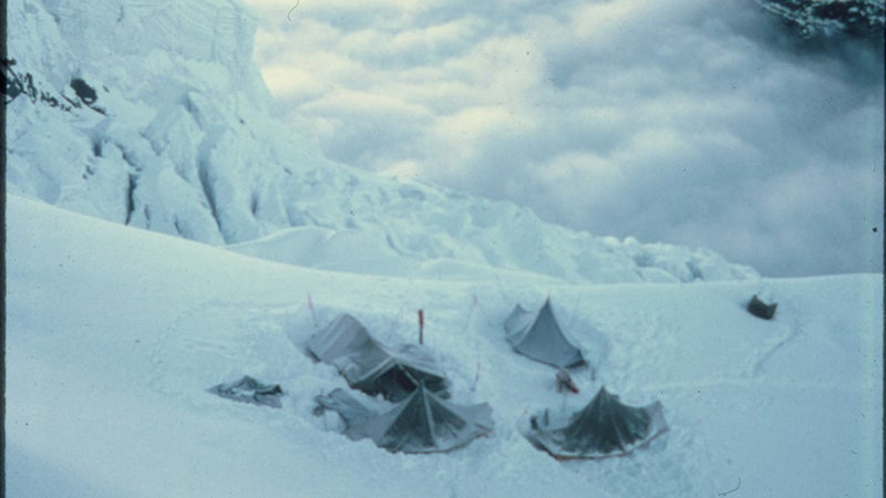 Tents stationed at camp two