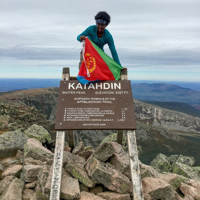 Reaching the trail's end in Maine, October 1