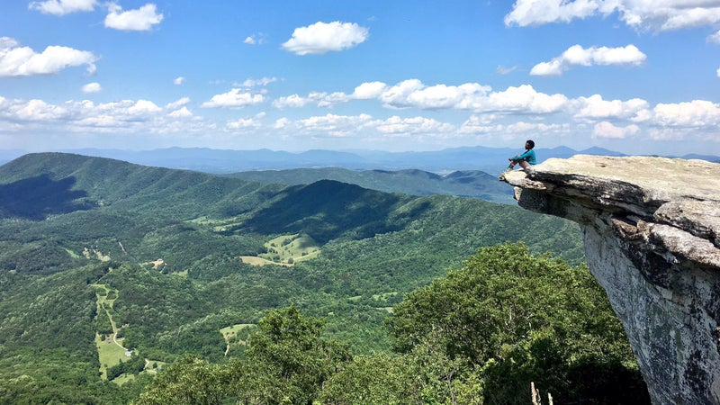 Writer Rahawa Haile on McAfee Knob, near Roanoke, Virginia, in June 2016