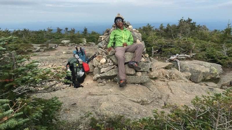 Resting on New Hampshire's Kinsman Mountain