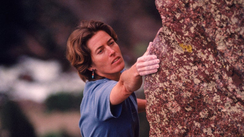 Lynn Hill was the first person to free-climb the Nose route on El Capitan.