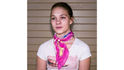 Taya Archuleta, 12, poses for a portrait.