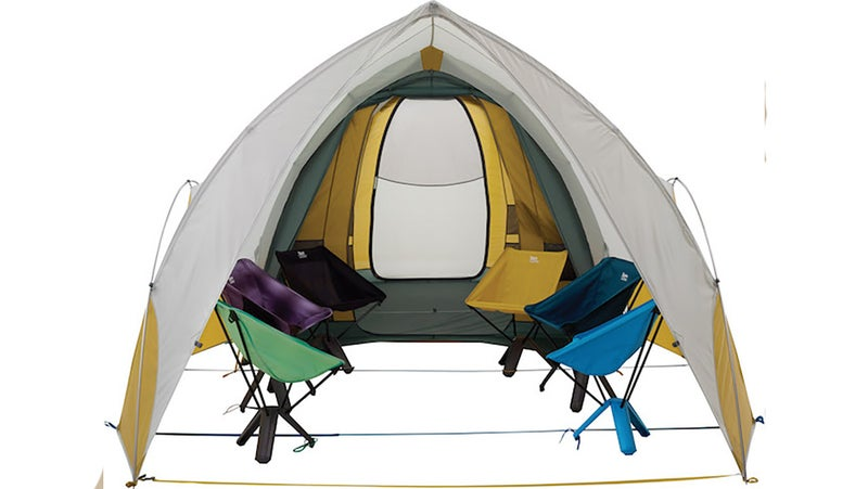 Therm-a-Rest's new Tranquility 6 provides standing-height interior room, along with walk-through doors. Here, it's paired with the Arrowspace shelter, which can attach to the Tranquility 6 to serve as a ginormous awning, or work on its own as a shade/rain shelter.