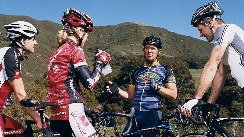 Athlete, coach: Chris Carmichael on a training ride in Buellton, California.