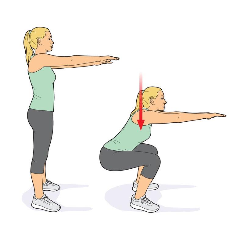 Air squat.