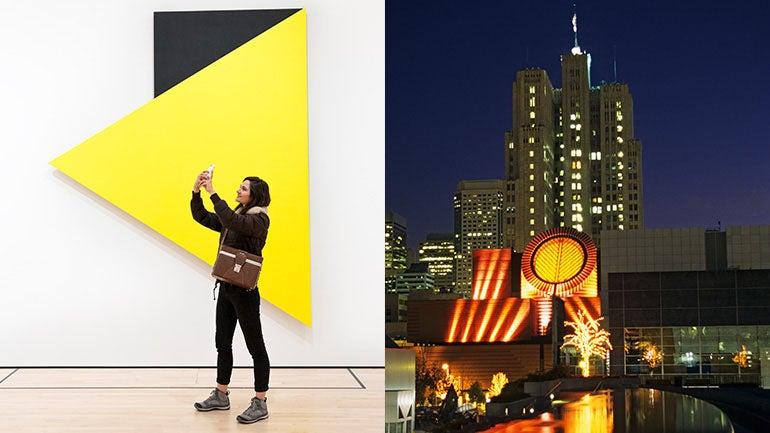 For creative inspiration, Meg visits the San Francisco Museum of Modern Art.