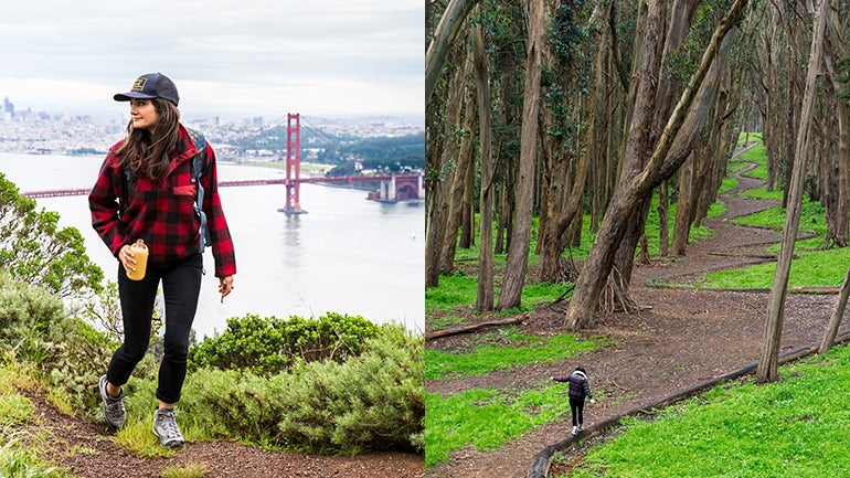 The Presidio, a former U.S. Army military fort on the northern tip of the Peninsula, is one of the most scenic urban parks in the country.