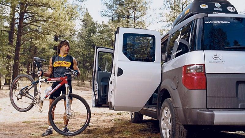 Breathing machine: Multisport champ Steve Ilg outside Flagstaff, Arizona.