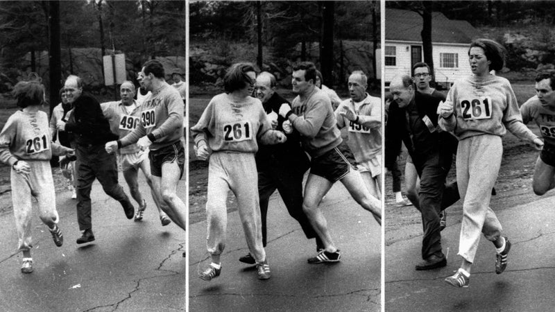 Switzer's iconic moment during the 1967 Boston Marathon