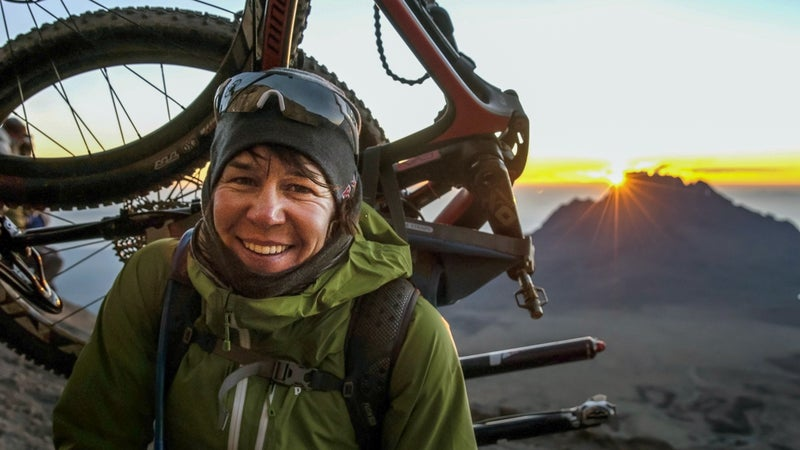 Rusch prepares to attempt the summit of  Mount Kilimanjaro