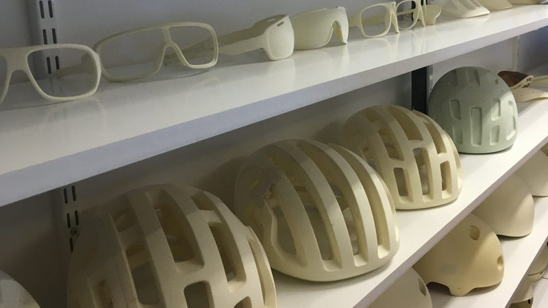 Molds of past and current POC products.