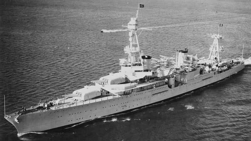 The USS Huston in 1935, with President Roosevelt onboard.