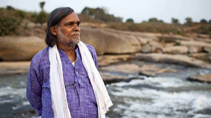 At the banks of the Nagavali River, Samantara reflects on his life's mission to protect nature and the lives of those who serve as its guardians.