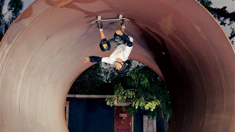 Antigravity: Burnquist hits the pipe at home in Vista, California.