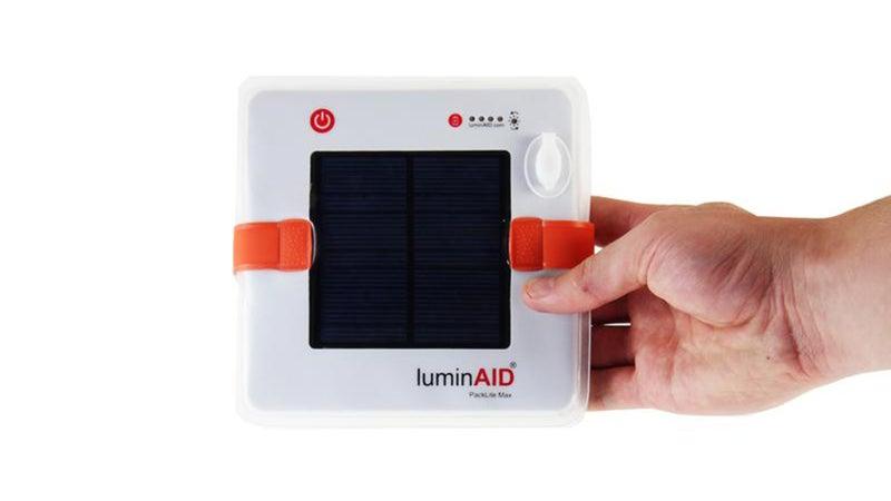 LuminAid PackLite Max light cube.